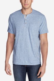 Men's Ferox Short-Sleeve Henley Shirt - Micro Stripe