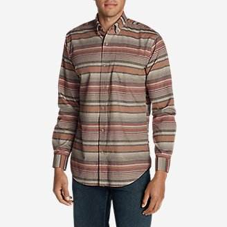 Thumbnail View 1 - Men's Classic Signature Twill Long-Sleeve Shirt - Pattern