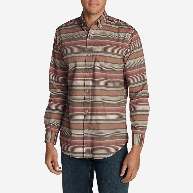 Men's Classic Signature Twill Long-Sleeve Shirt - Pattern large version