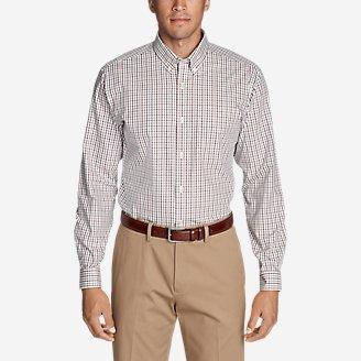 Thumbnail View 1 - Men's Wrinkle-Free Pinpoint Oxford Classic Fit Long-Sleeve Shirt - Seasonal Pattern