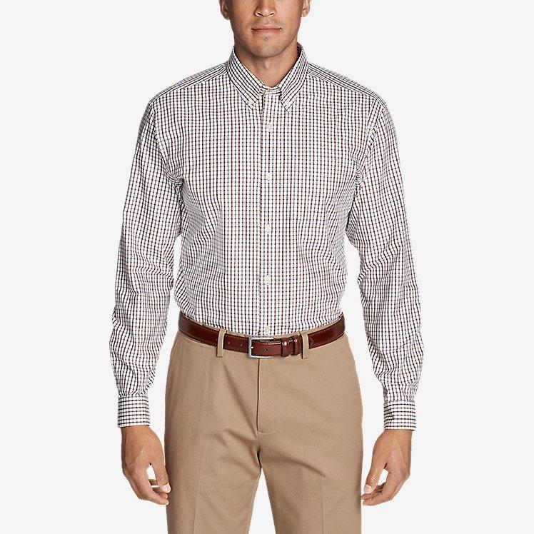 Men's Wrinkle-Free Pinpoint Oxford Classic Fit Long-Sleeve Shirt - Seasonal Pattern large version