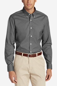 Men's Wrinkle-Resistant Long-Sleeve Sport Shirt