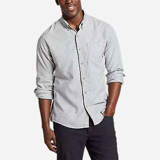 Thumbnail View 1 - Men's Eddie's Favorite Flannel Classic Fit Shirt - Solid