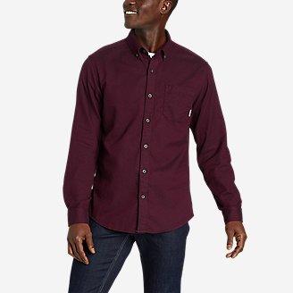 Thumbnail View 1 - Men's Eddie's Favorite Flannel Classic Fit Shirt - Solid