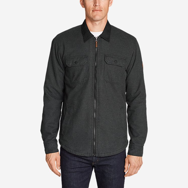 authorized site lovely luster choose authentic Men's Eddie's Favorite Flannel Sherpa-Lined Shirt Jacket
