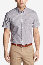 Men's Wrinkle-Free Classic Pinpoint Oxford Short-Sleeve Shirt - Seasonal