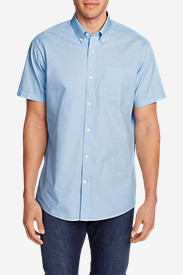 Men's Wrinkle-Free Classic Pinpoint Oxford Short-Sleeve Shirt - Blues