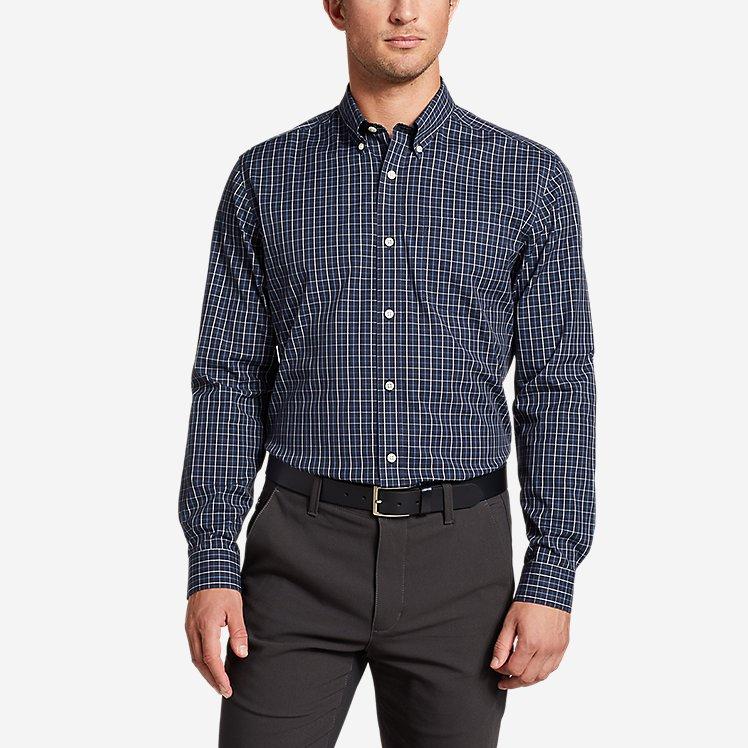Men's Flex Wrinkle-Free Classic-Fit Shirt - Blues large version