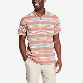 Thumbnail View 1 - Men's Baja Short-Sleeve Popover Shirt