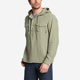 Thumbnail View 1 - Men's Rancher Twill Popover Hoodie
