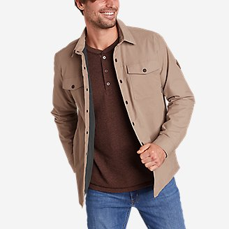 Thumbnail View 1 - Men's Voyager Fleece-Lined Shirt Jacket