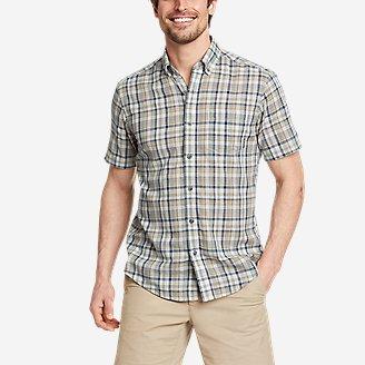 Thumbnail View 1 - Men's Tidelands Short-Sleeve Yarn-Dyed Textured Shirt