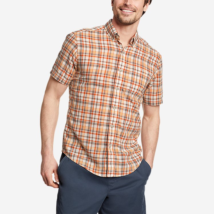Men's Tidelands Short-Sleeve Yarn-Dyed Textured Shirt large version