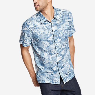 Thumbnail View 1 - Men's Larrabee Short-Sleeve Shirt - Print