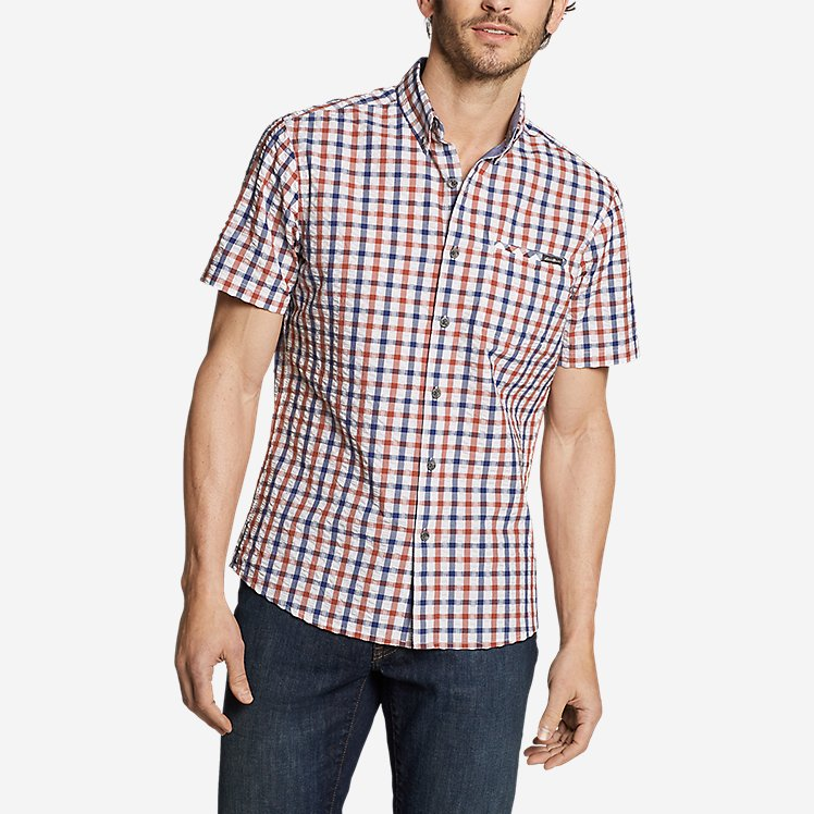 Men's Bainbridge Short-Sleeve Seersucker Shirt large version