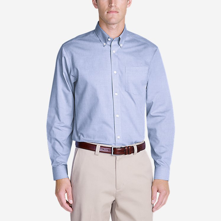 Men's Wrinkle free Relaxed Fit Pinpoint Oxford Shirt Solid