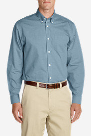Men's Wrinkle-Free Relaxed Fit Pinpoint Oxford Shirt - Solid Long-Sleeve