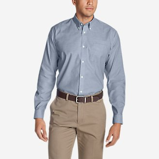 Thumbnail View 1 - Men's Wrinkle-Free Relaxed Fit Oxford Cloth Shirt - Solid