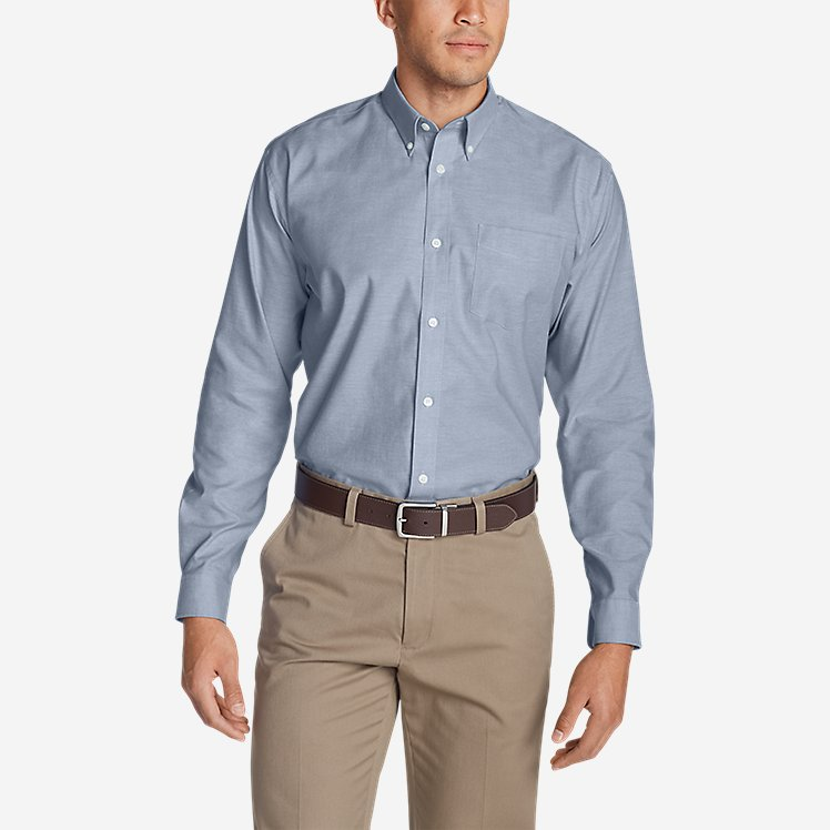 Men's Wrinkle-Free Relaxed Fit Oxford Cloth Shirt - Solid large version