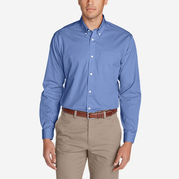 Men's Wrinkle-Free Classic FIt Pinpoint Oxford Shirt - Solid large version