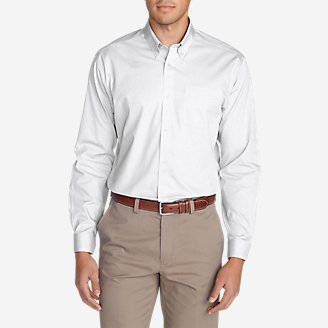 Thumbnail View 1 - Men's Wrinkle-Free Classic FIt Pinpoint Oxford Shirt - Solid