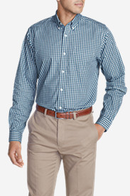Men's Wrinkle-Free Classic Fit Pinpoint Oxford Shirt - Blues