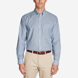 Thumbnail View 1 - Men's Wrinkle-Free Relaxed Fit Oxford Cloth Shirt - Pattern