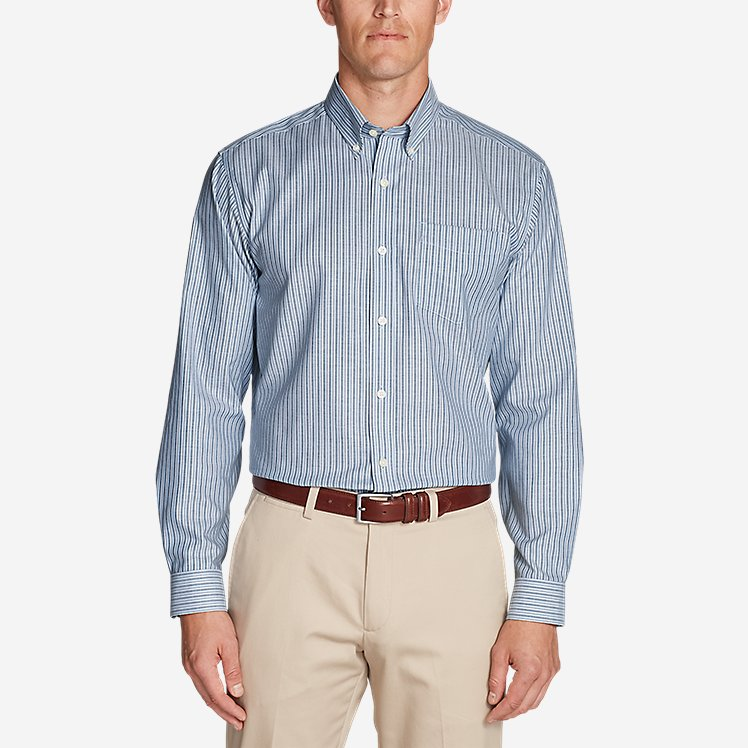 Men's Wrinkle-Free Relaxed Fit Oxford Cloth Shirt - Pattern large version