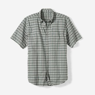Thumbnail View 1 - Men's Relaxed Fit Signature Twill Short-Sleeve Shirt -Pattern