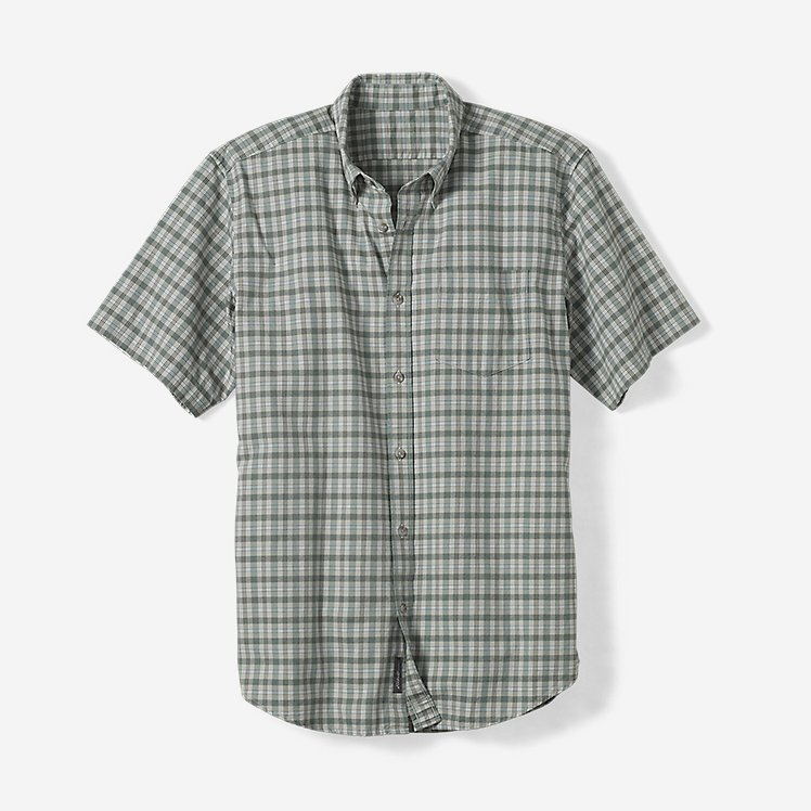 Men's Relaxed Fit Signature Twill Short-Sleeve Shirt -Pattern large version
