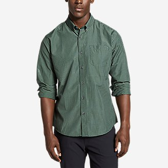 Thumbnail View 1 - Men's On The Go Long-Sleeve Poplin Shirt