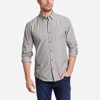 Thumbnail View 1 - Men's On The Go Long-Sleeve Poplin Shirt