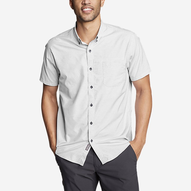 Men's On The Go Short-Sleeve Poplin Shirt large version