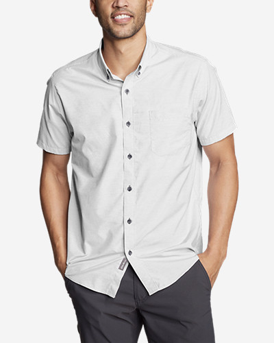 Men's On The Go Short Sleeve Poplin Shirt by Eddie Bauer