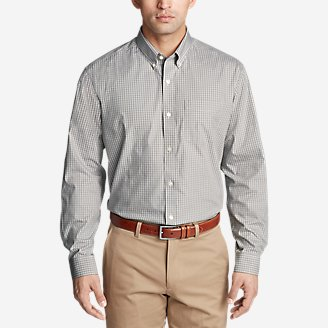 Thumbnail View 1 - Men's Wrinkle-Free Pinpoint Oxford Relaxed Fit Long-Sleeve Shirt - Seasonal Pattern