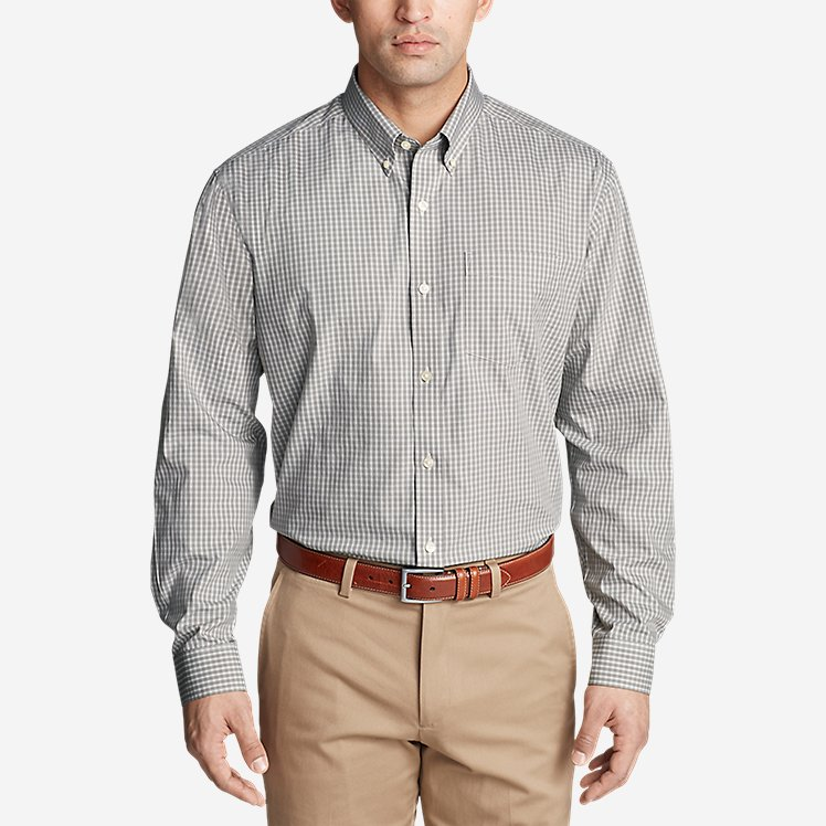 Men's Wrinkle free Pinpoint Oxford Relaxed Fit Long sleeve