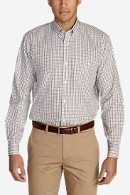 Men's Wrinkle-Free Pinpoint Oxford Relaxed Fit Long-Sleeve Shirt - Seasonal Pattern