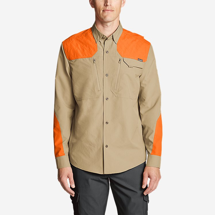 Men's Field Guide Flex Long-Sleeve Shirt - Blaze large version
