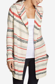 Women's Hooded Sleep Cardigan - Stripe