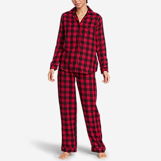 Thumbnail View 1 - Women's Flannel Sleep Set