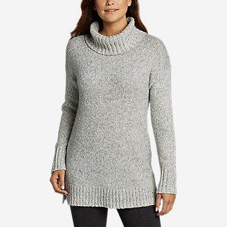 Thumbnail View 1 - Women's Turtleneck Sleep Sweater