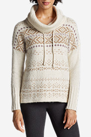 Women's Funnel Neck Sleep Pullover - Pattern