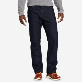 Thumbnail View 1 - Men's Field Flannel-Lined Flex Straight Jeans