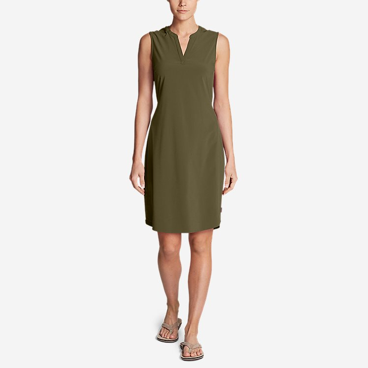Women's Escapelite Sleeveless Split-Neck Dress large version