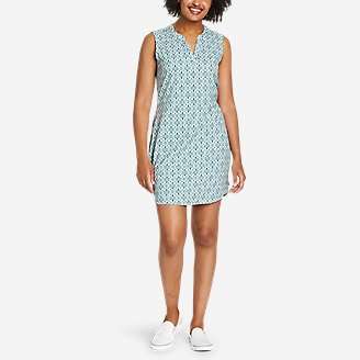 Thumbnail View 1 - Women's Escapelite Split-Neck Dress - Print