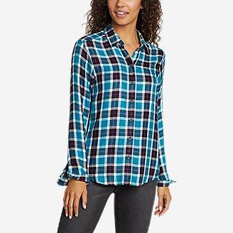 Thumbnail View 1 - Women's Halcyon Shirred Long-Sleeve Shirt