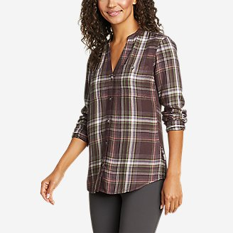 Thumbnail View 1 - Women's Halcyon Long-Sleeve Y-Neck Shirt