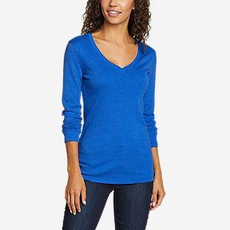Thumbnail View 1 - Women's Stine's Long-Sleeve V-Neck T-Shirt