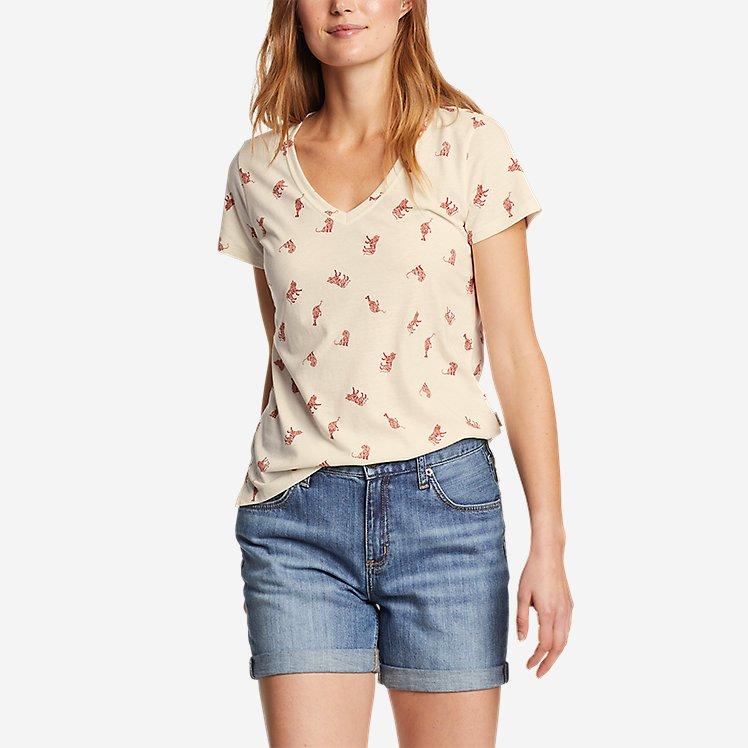 Women's Coast and Climb Short-Sleeve V-Neck T-Shirt - Print large version