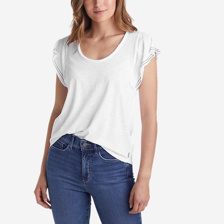 Women's Concourse Flutter-Sleeve T-Shirt large version